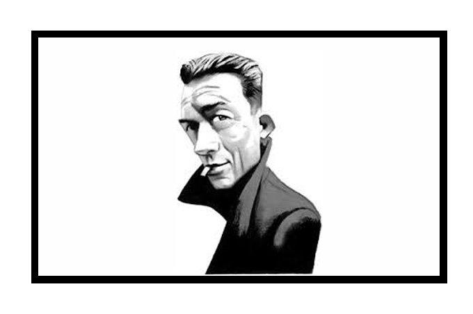 Albert Camus caricatura