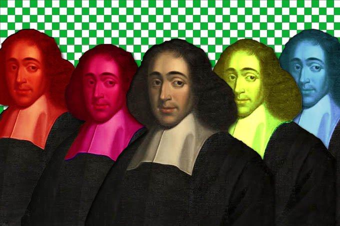 Baruch de Spinoza multicolor