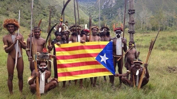 Cataluña banderolada