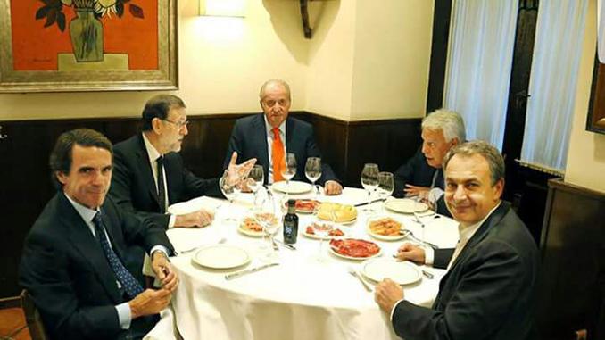 La última cena – rey aznar Rajoy ZPero Y Mr X[3169]