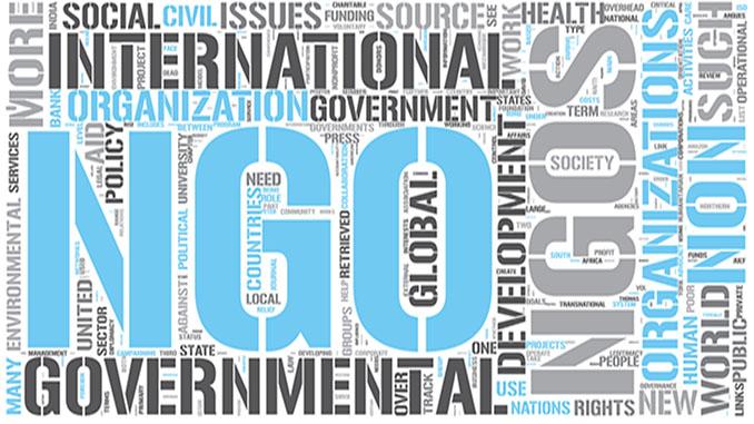 Non-governmental organization Word Cloud Concept