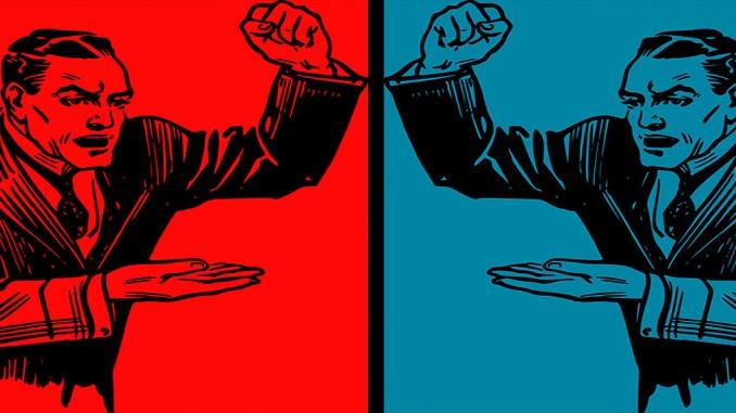 el arte de la mentira política-rojo y azul-imagen principal parte III- domingo 8 de abril-paint