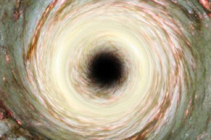 Artistic Representation of a cosmic Black Hole. Elements furnish